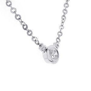 1.00 Carat Bezel Set Round Diamond Pendant